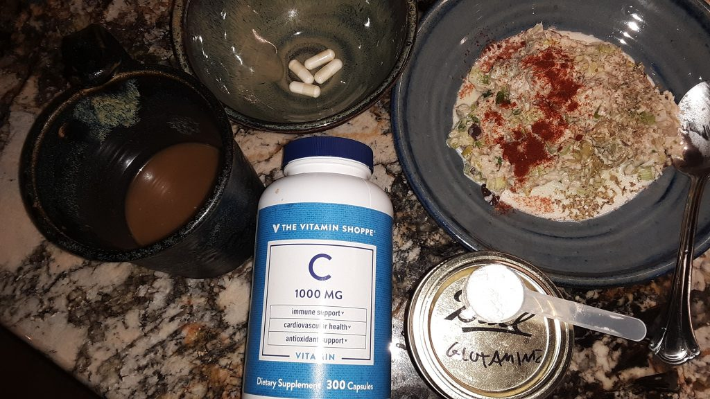 Breakfast with Vitamin C and L Glutamine